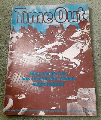 Rare Vintage Time Out Living Guide To London Magazine No.122 June 16-22 1972 VG