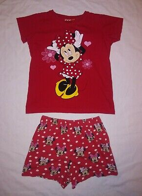Disney | Minnie Mouse Girls T-Shirt & Shorts Set | Kids Size 4-5years