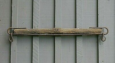 Old Vintage Antique Hand Forged Single Tree Mule Horse Drawn Wagon Farm Tool a