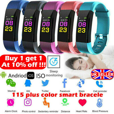 Fitness Smart Watch Activity Tracker Women Men Kid Fitbit Android iOS Heart Rate