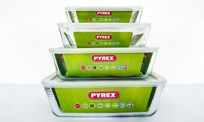 Pyrex Glass Food Container Bowl 8-Piece Storable Set Baking Freezing Microwave