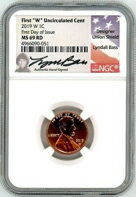 2017-P Shield Penny NGC Gem Uncirculated Hand-Signed by Lyndall Bass