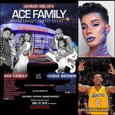 Ace Family Charity Basketball Event - 2 Tickets! * PREMIUM SEATS * REDUCED PRICE