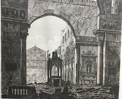 ROSSINI Engraving: Triumphal Arch - Confession of St. Paul,  Roma 1823 T99