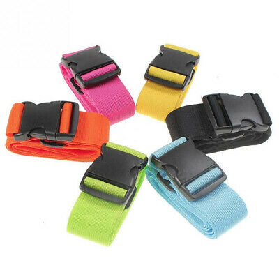 Outdoor Suitcase Packing Tie Down Nylon Lock Belt Travel Luggage Buckle Straps