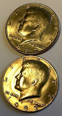 1982- (P/D) - KENNEDY HALF DOLLAR COINS - LOT of (2) - UNC