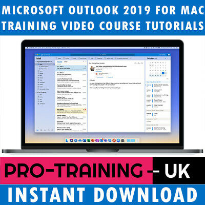 Microsoft Office Outlook 2019 For MAC Video Training Tutorial - Instant Download