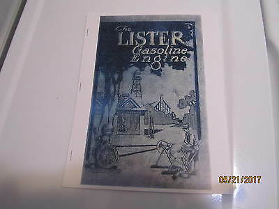 Lister Upright Gas Engine,Saws, Pumps Info manual