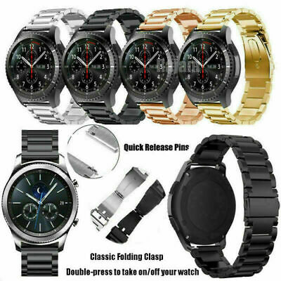 Quick Install Stainless Steel Band Strap Fr Samsung Galaxy Watch 46mm/Active