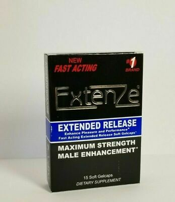 ExtenZe Extended Release Max Strength Male Enhancement 15 count box EX 112019