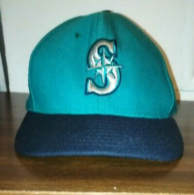 de69109d Vtg Seattle Mariners New Era 5950 Diamond Collection Fitted Wool Hat 6 5/8  USA