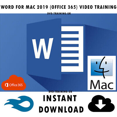 Microsoft Office 365 Word 2019 MAC Pro Video Training Tutorial Instant Download