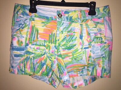 d765257e9405f1 LILLY PULITZER WOMEN'S Callahan Shorts Serene Blue Tippy Top Size 8 ...