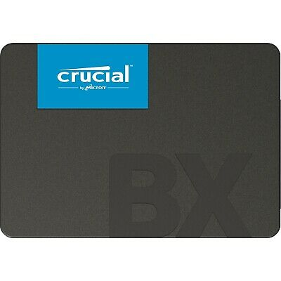 """Crucial 540MB/s SATA 2.5"""" 480GB Internal SSD BX500 Laptop & PC Solid State Drive"""