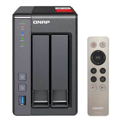 QNAP TS-251+-8G 2 Bay Diskless NAS Intel Celeron Quad Core 2.0GHz CPU 8GB RAM