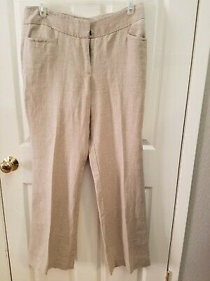 Ann Taylor LOFT Julie Trouser Linen Dress Womens Pants Size 12 NWT