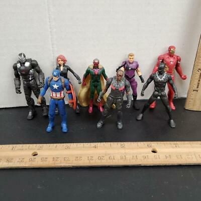 "Marvel AVENGERS Lot CAPTAIN AMERICA IRON MAN Black Widow Vision 2.75"" Figures"
