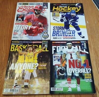 Four May 2019 Beckett Card Price Guides Baseball Basketball Football Hockey