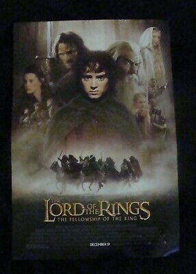 LORD OF THE RINGS FELLOWSHIP OF THE RINGS movie poster ELIJAH WOOD Original DS O