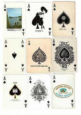 54 Antique & Vintage Single/Swap Playing Cards - All Ace of Spades