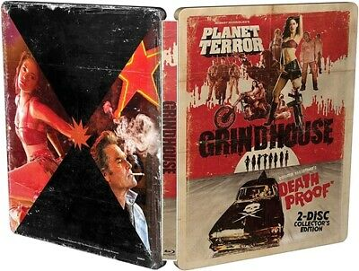 GRINDHOUSE New Sealed Blu-ray 2 Disc Collector's Edition Steelbook