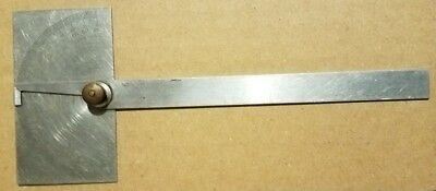 Craftsman 4029 Stainless Steel Machinist Protractor Made in USA Vintage Tool