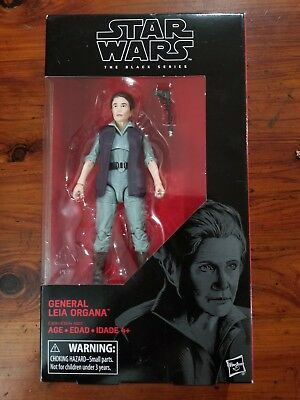 "Star Wars the Black Series The Last Jedi #52 General Leia Organa 6"" Figure MIB"