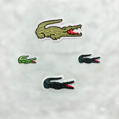 Alligator Embroidered Patches Sew Iron On Clothes Badge Fabric Appliques Crafts