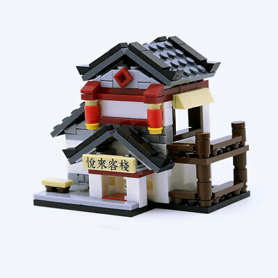 Mini Street View Chinese Ancient Inn Building Blocks Bricks Models Figures Toys