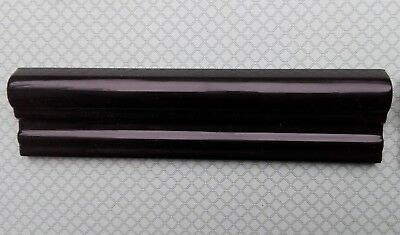 Subway Black Victorian Dado Tile mouldings. 20x5cm