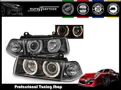 Headlights Lpbm35 Bmw 3 Series E36 1990-1996 1997 1998 1999 Angel Eyes Rhd Lhd