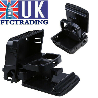 Rear Armrest Central Console Cup Holder Black For VW Golf MK5 MK6 Jetta Eos