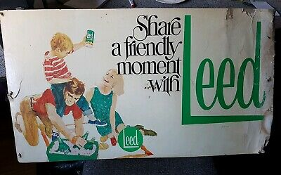 1969 Leed Lemonade Board Sign Coca Cola. 885 x 495 mm