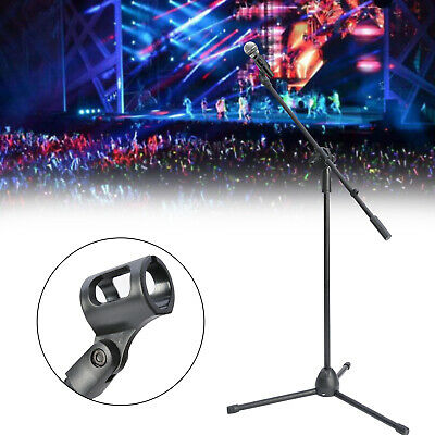 Adjustable Microphone Stand Boom Arm Bulk Package Studio Tripod Mic Clip Black