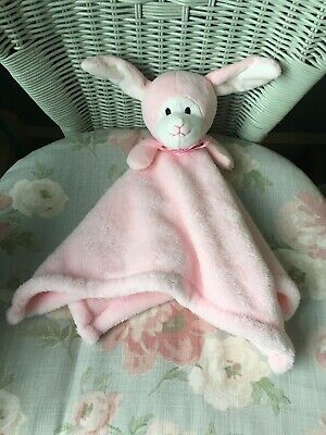 Tjm Snuggz Pink Bunny Rabbit Comforter Blankie Soft Toy Soother Doudou Rattle