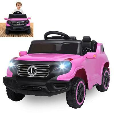 6V Electric Kids Ride On Car Truck Toy Remote Control for 3 to 8 Years Old Pink
