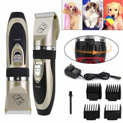 Electric Animal Pet Dog Cat Hair Trimmer Shaver Razor Grooming Quiet Clipper HC