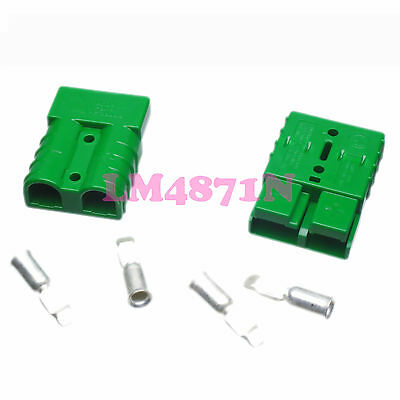 2pcs//pair Forklift Battery Power Products 50A AMP Connector contact pin 8AWG