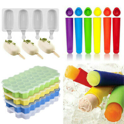 Silicone Frozen Stick Ice Cream Ice Cube Pop Yogurt Jelly Lolly Maker Mould Tray