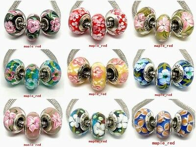 High Quality Beautiful European PA Style Lampwork Glass Beads fit Charm Bracelet