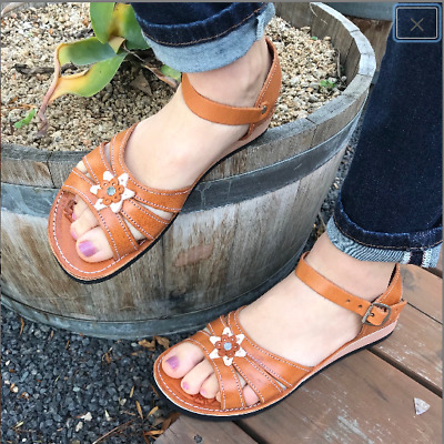 130b0a14e23d9 WOMENS MEXICAN HANDMADE Leather HUARACHES Sandals Sandalia Mujer ...
