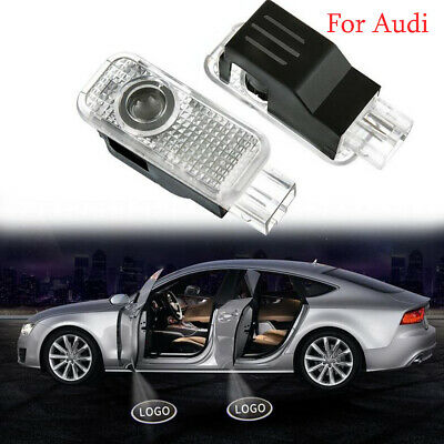 2X LED Door Step Courtesy Shadow Laser Light Dedicated For Audi A3 A4 A5 A6 Q5
