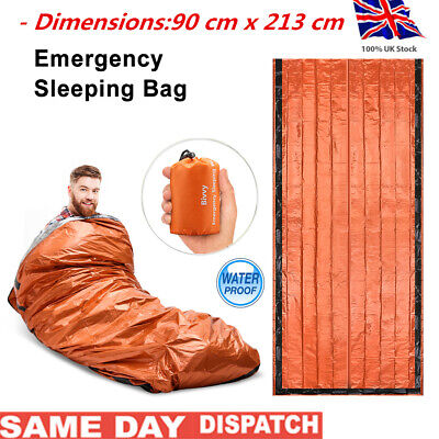 4 SEASON SLEEPING BAG WATERPROOF CASE CAMPING HIKING OUTDOOR Emergency SLEEP BAG