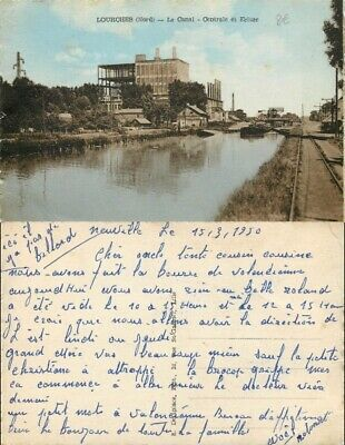 [505743] B/TB|| || - France  - (59) Nord, Lourches, Le Canal, Central et Ecluse