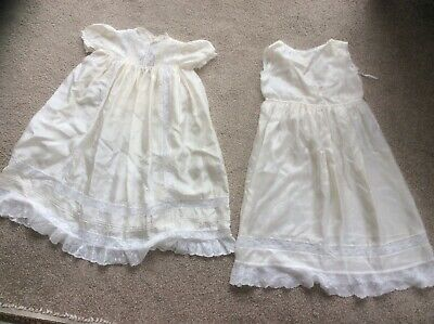 Beautiful Christening Gown And Petticoat Made From World War 2 Parachute Silk.