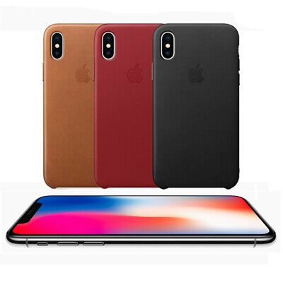 NEW For Apple iPhone XS XR XS MAX Original Genuine PU Leather OEM Case Cover