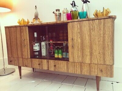 Vintage 1950s 1960s Scully Sideboard Cocktail Cabinet Mid Century Retro
