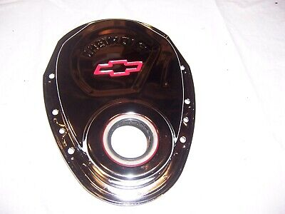 1955 - 1982 Chevy Small Block Chrome Bow Tie Timing Cover  NEW