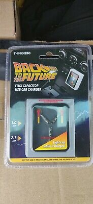 Back to the Future BTTF Flux Capacitor USB Car Charger Thinkgeek Brand New