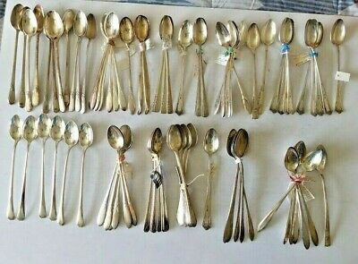 Mixed Lot of 80 Vintage/Antique Silverplate Ice Tea Spoons